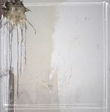 Gray concrete texture background with dripping and borders Stock Photography