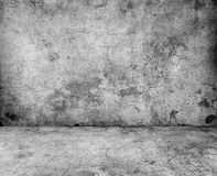 Gray concrete wall. And floor closeup Stock Image