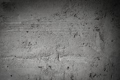 Gray Concrete Of Wall Background scuro fotografie stock