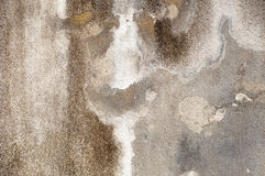 Gray concrete wall with crumbling plaster. textural composition Royalty Free Stock Photo