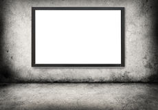 Gray concrete wall  with digital screen Stock Photography