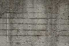 Gray concrete wall with reinforcement background Royalty Free Stock Image