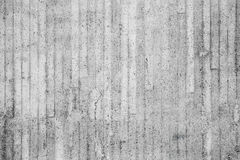 Gray concrete wall with relief pattern of timber Royalty Free Stock Photos