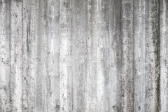 Gray concrete wall with wooden pattern Royalty Free Stock Image