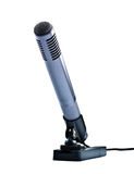 Gray condenser microphone on stand Royalty Free Stock Image