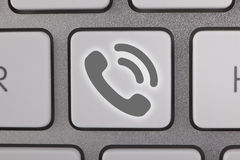Gray Contact Us no teclado Imagem de Stock Royalty Free