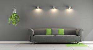 Gray contemporary living room Stock Photos