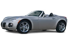 Gray Convertible Side View Royalty Free Stock Photography