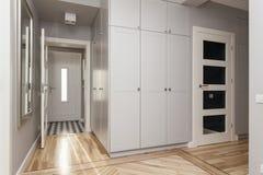 Gray corridor Stock Images