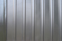 Gray corrugated metal texture Royalty Free Stock Image