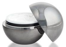 Gray cosmetics cream sphere Royalty Free Stock Photos