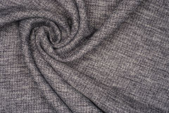 Gray cotton fabric Royalty Free Stock Images