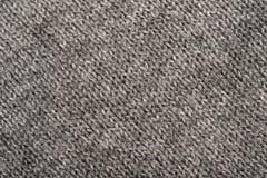 Gray Cotton Texture. Macro Photo Of A Grey Cotton Texture Stock Photography