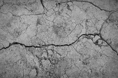 Gray cracked concrete texture background, close up Royalty Free Stock Photography
