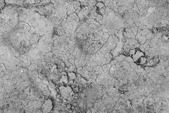 Gray cracked concrete texture background, close up Stock Photo