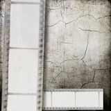 Gray cracked film strip background. Gray vintage film strip background Royalty Free Stock Photos