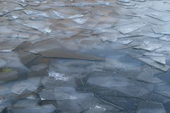 Gray cracked ice Royalty Free Stock Images