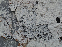 Gray cracked paint on an old wall Royalty Free Stock Images
