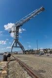 Gray crane titan in Nantes France Stock Photography