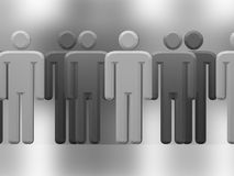 Gray crowd Stock Images