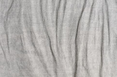 Gray crumpled linen background Stock Photo