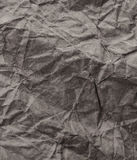 Gray Crumpled recycled paper background texture. Vintage craft p Stock Photography