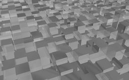 Gray-cube-background. Gray background made of reflecting 3d rectangle Royalty Free Stock Photography