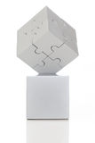 Gray cube of puzzles Stock Images