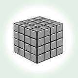 Gray cube on white background. See my other works in portfolio Stock Images