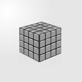 Gray cube on white background. See my other works in portfolio Stock Photo