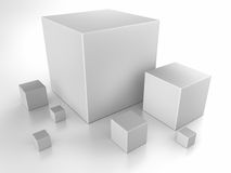 Gray Cubes Royalty Free Stock Images