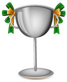 A gray cup with ribbons Stock Photos