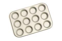 Gray cupcake tray. Stock Photography