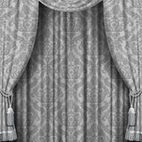 Gray curtain Royalty Free Stock Image