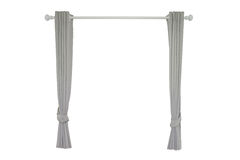 Gray curtains Royalty Free Stock Images