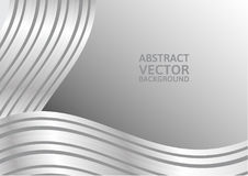 Gray curve abstract vector background with copy space Royalty Free Stock Photo
