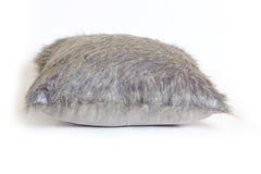 Gray cushion on white stock image
