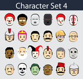 Character Icon Set 4 Stock Photos