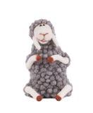 Gray cute lamb. Royalty Free Stock Photo