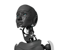 Gray cyborg Royalty Free Stock Photography