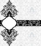 Gray damask card Royalty Free Stock Images