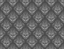 Gray damask pattern Royalty Free Stock Images