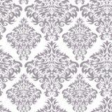 Gray damask pattern Royalty Free Stock Photography