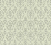 Gray Damask Seamless Pattern Stock Image