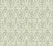 Gray Damask Seamless Pattern Stock Image