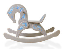 Gray decorative rocking horse Stock Image