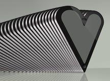 Gray del cuore della compressa Immagine Stock