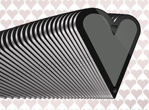 Gray 2 del cuore della compressa Immagini Stock Libere da Diritti