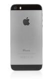 Gray dello spazio di IPhone 5s su fondo bianco Immagini Stock