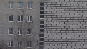 Gray depressive buildings view, eastern europe, gloomy melting effect, 1920x1080.  stock footage
